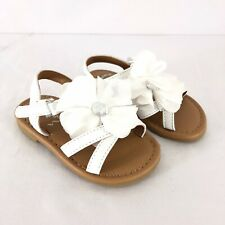 Flowers by Nina Toddler Girls Annabel Sandals Strappy Floral Applique White 5