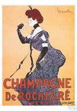 VINTAGE PRINT POSTER Champagne de Rochecre by Cappiello