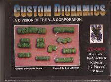 Custom Dioramics Bedrolls, Tentpacks & Kitbags (10-Pieces) Resin 1/35 CD 6004