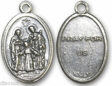 Holy Family - Virgin Mary Saint St Joseph Jesus Christ - Prayer charm.