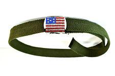 Vert militaire unique chaud Patriotique Drapeau Américain ceinture tout nouveau thème américain (MZ1)