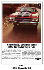 1970 Chevrolet Chevelle SS 396 454 Poster 24x36 Chevy Garage Man Cave Ad Art BIG