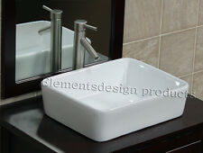 Bathroom Ceramic Porcelain Vessel Sink Brush Nickel Faucet Pop Up drain CV7050N1