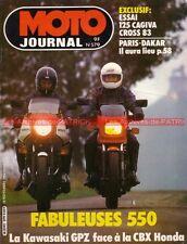 MOTO JOURNAL  579 Essai HONDA CBX 550 F2 KAWASAKI GPZ CAGIVA 125 WMX HIRO ATC