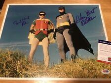 (SSG ) BATMAN - Adam West & Burt Ward Signed Large 11X14 Photo with PSA/DNA COA