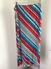 New Directions Womens Plus Bright diagonal stripes Maxi Skirt USA size 2X