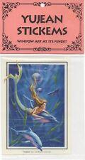 Vintage 1992 Vinyl Mermaid & Dolphins Window Decal~Thierry Chatelain~Yujean