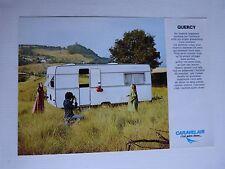 Catalogue prospectus : caravanes CARAVELAIR modèle quercy des années 60