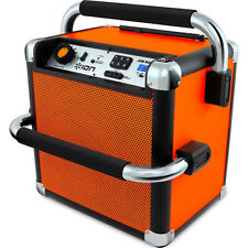 Ion Audio Job Rocker Plus Bluetooth Portable Jobsite Sound System Orange