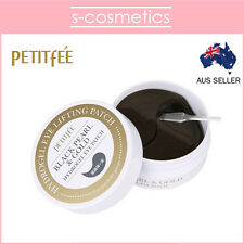 [PETITFEE] Black Pearl & Gold Hydrogel Eye Patch (60 sheets) - Eye Lifting Mask