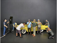 Weekend Car Show  8 Piece Figurine Set For 1/18 Scale Models By American Diorama