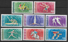 HUNGARY , 1968 OLYMPICS , SPORTS , AIRMAIL , SET OF 8 , PERF , MNH