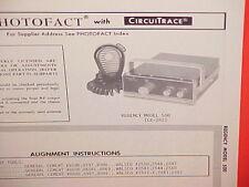 1969 REGENCY CB RADIO SERVICE SHOP MANUAL MODEL 500 (CB-282)