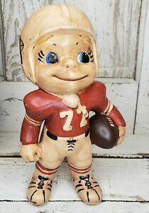 Rare Vintage St Louis Cardinals Football Player # 72 Ceramic Figure Statue