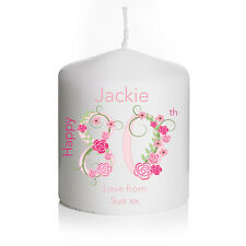 Personalised Birthday Candle Gift Keepsake 80th 70th 60th 50th 40th Any Age SML