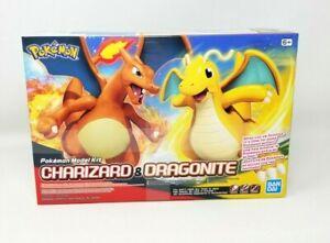 Bandai 2020 Pokemon Charizard Dragonite Easy Build Plastic Model Kit Sealed NIP