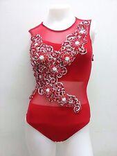 DaNeeNa M688 Chinese Flower Cher Vegas Burlesque Nude Leotard Bodysuit XS-XL