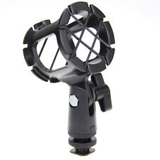 Universal Microphone Shock Mount Holder Stand Mic clip with Hot Shoe for shotgun