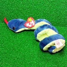 1997 Ty Beanie Baby Hissy The Snake Rare Retired PVC Plush Toy MWMT - Ships FREE