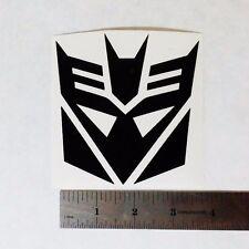TRANSFORMERS DECEPTICONS Vinyl DECAL STICKER BLK/WHT/RED Logo Window Autobots