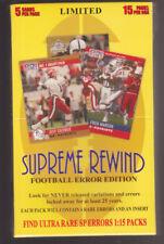 Sealed Supreme Rewind Hobby Box FOOTBALL ERROR EDITION 60 ERRORS PER BOX!