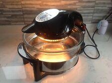 Andrew James 12L Hinged Digital Halogen Oven Cooker -- black read discription