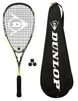 Dunlop Blackstorm Graphite 3.0 Squash Racket + 3 Squash Balls RRP £175