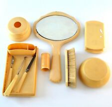 Vintage Celluloid Vanity Set Du Barry Ivory Py- Ra - Lin Grooming Lot