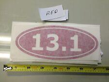 13.1 RED sticker decal Car window half marathon running runner bumper inshape