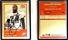 Sheldon Brown Signed 2004 Fleer Tradition #183 Card Philadelphia Eagles Auto Aut