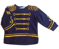Sweat Shirt Gr.74 H&M NEU blau pullover kinder kostüm fasching parade prinz