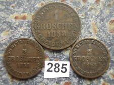 Braunschweig-Calenberg-Hannover Georg 1851-1866 1 & 1/2 Groschen 1858 & 1863
