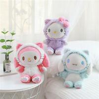 Kawaii Sanrio Cinnamoroll My Melody Cute Plush Doll Chain Bag Doll Soft Stuffed