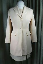 Cream Long Jacket Dress Suit Mother of Bride (Louis Charles  (London) UK12 EU40