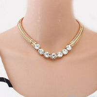 1 PSC New Arrival Crystal Statement Charm Chain Choker Chunky Pendant Necklace