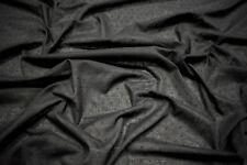 """Black Swiss Dot 100% Cotton Lawn Sheer Apparel Embroidered Fabric Woven 56""""W"""