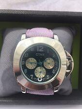 Unisex  CTNY  Sports Anaolgue Quartz Watch 47 CMM Case with a leather strap