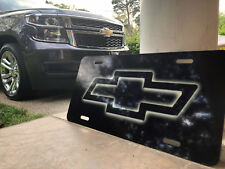 Chevy  LICENSE PLATE Bowtie Black Car Truck Van Chevrolet Custom Car Tag