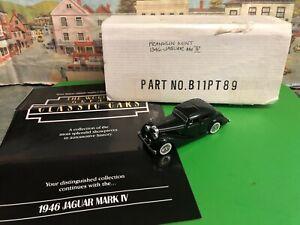 Franklin Mint 1946 Jaguar MK IV die cast model car 1:43 scale B11PT89
