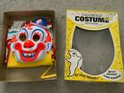 Vintage Clown Genuine Collegeville Mask & costume Rob Zombie Halloween in box