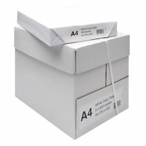 5 Reams (2500 Sheets) A4 White 80gsm Multipurpose Paper, A4PAPER