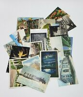 Lot of 20 Vintage Postcards Used Blank Color B&W 1900's Ephemera Vacation Travel