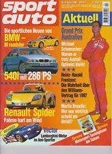 Sport Auto 04/96 Volvo 850 T-5R und Lotec-Volvo 850 T-5, Renault Spider,