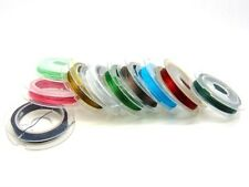 10 x 10m Mixed  Pack Tiger Tail Beading Wire 0.38mm = 100m Random  Colours P182