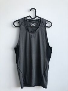 under armour compression Mens Sleeveless Top T Shirt Size Xs