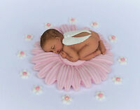 Edible baby girl and flower Christening / Baby Shower cake decoration topper