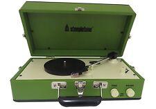 Steepletone Portable vinyle tourne-disque électrophone avec haut-parleur vert