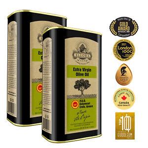 2021 Gold Awards, Single Estate PDO Greek Extra Virgin Olive Oil, 33.8oz X 2