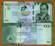 Nicaragua, 1000 cordobas, 2016, P-New, UNC > Commemorative, Highest denom