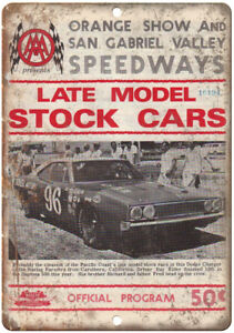 "Orange Show San Gabriel Valley Speedway 10"" X 7"" Reproduction Metal Sign A550"